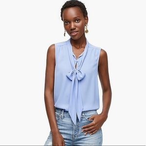 J.Crew NWT Drapey Orchid Tie Neck Sleeveless Top